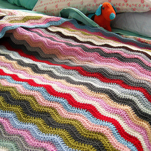 Alicia Paulson crochet ripple blanket