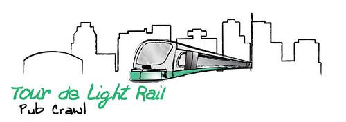 Tour de Light Rail T-Shirt Design