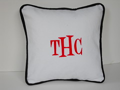 Denim Monogrammed Pillow