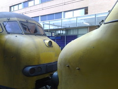 two trains kissing in Hilversum