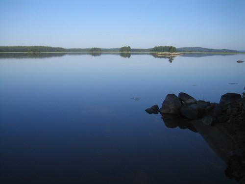 el lago (amaneciendo)