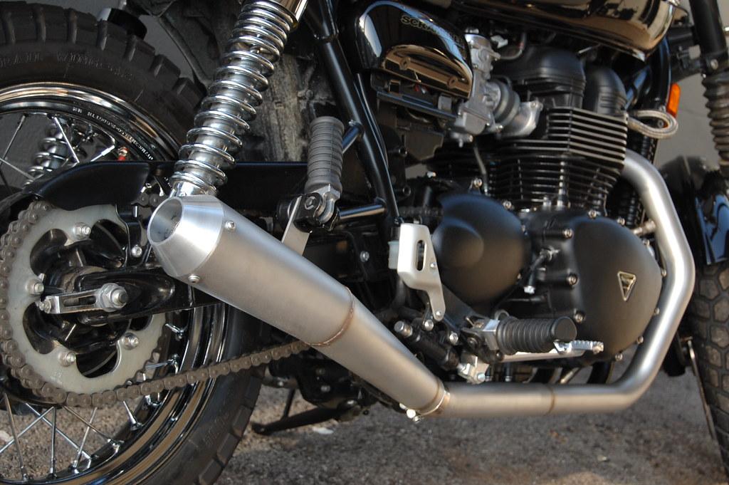 2010 Triumph Scrambler Exhaust Pipe