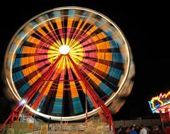 Ferris Wheel (12Jeepgirl~Never look back...) Tags: carnival blur night lights amusement model nikon ride sigma fair iowa ferriswheel midway desmoines d300 iowastatefair flickrunitedaward
