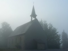 Velbert - The Fog (FP) (c-h-l) Tags: fog morning church street trees road mist dense summer noview earlymorning morningmist uncertain hidden unclear foggy calm nebel morgen kirche bume schlechtesicht sommer germany deutschland nrw velbert bergischesland velbertlangenhorst langenhorst europa europe explore frontpage
