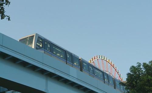 Ferris wheel and Yurikamome