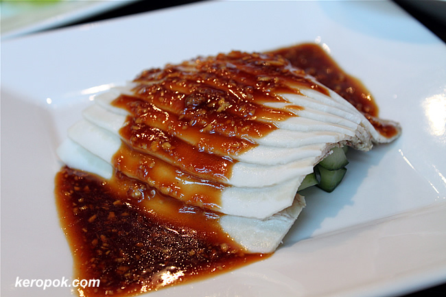 Steamed Cold Pork Belly with garlic