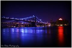 My Brooklyn Bridge (~Sir Duke~) Tags: nyc longexposure bridge newyork brooklyn night photography eos rebel evening manhattan scene southstreetseaport brooklynbridge manhattanbridge eastriver southstreet seaport xsi pier17 canon450d