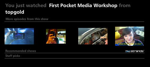 First Pocketmedia Session