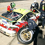 In the pit, 12 Hours of Sebring