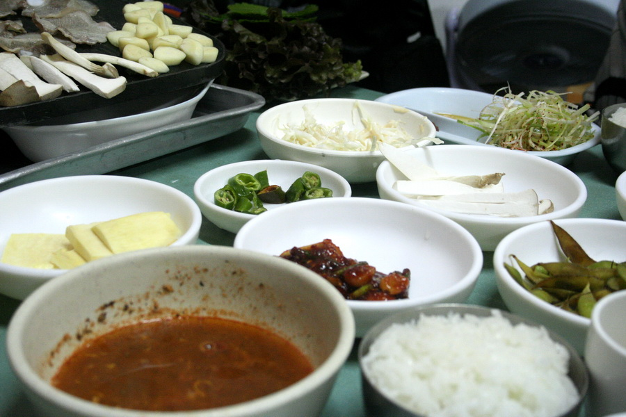 Samgyeobsal menu(3) banchan set