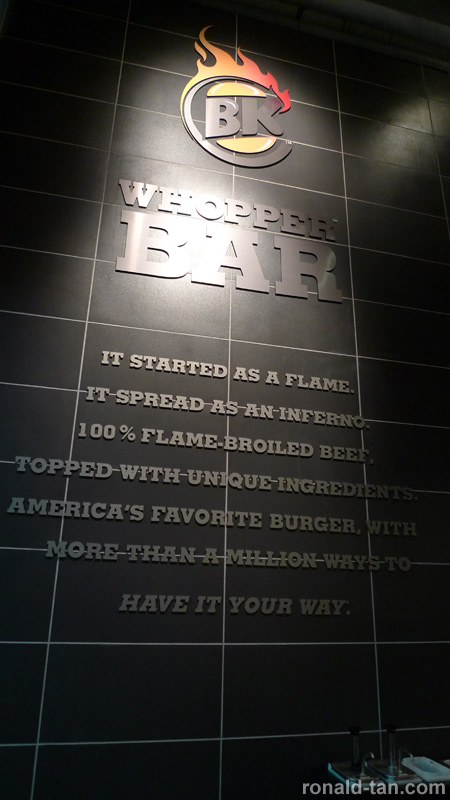 Burger King® Whopper™ Bar Singapore