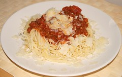 Spaghetti Bolognese with Ground Buffalo