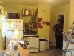 Scott documenting kitchen