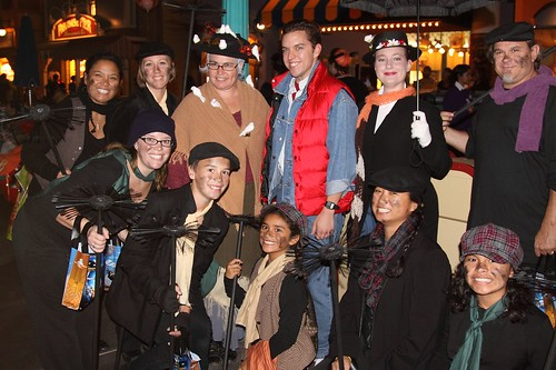 Mickey's Trick or Treat Party: Marty McFly, Mary Poppins Group
