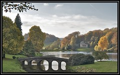 Forever Autumn (Nala Rewop) Tags: autumn trees lake colors golden colours stourhead nationaltrust stourton borderfx
