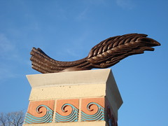 Central Avenue Stelae: The Flying Wheat Stalk