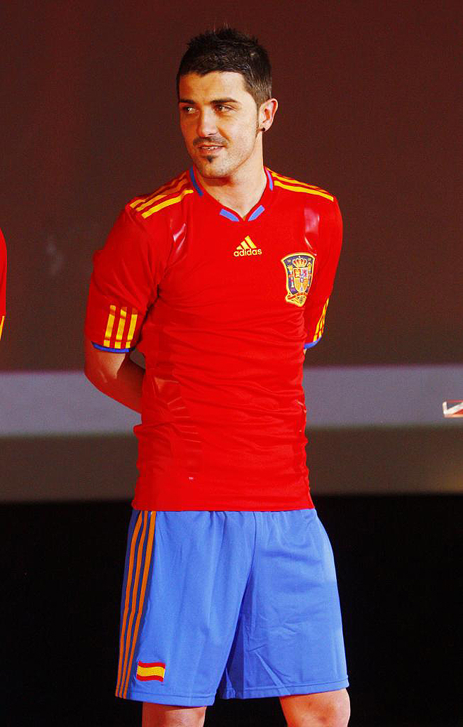 David Villa Spain Soccer Jersey World Cup 2010