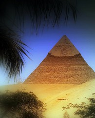 View Of One Of The Pyramids From Giza (Butch Osborne) Tags: travel ancient pyramid egypt oasis traveling giza pharoah gct antiquity mustsee supershot egypt2006 grandcircletravel platinumphoto flickrdiamond bucketlist