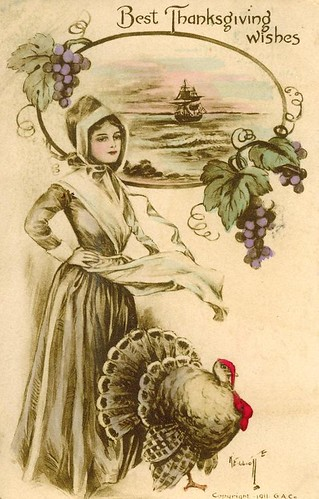 Vintage Thanksgiving Postcard by Suzee Que.