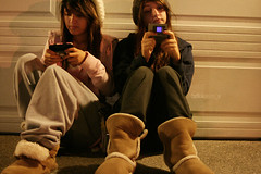 Texting . (hellokayce_x) Tags: door night canon lens eos rebel xt hoodie boots random garage hats late texting 2880mm