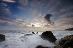 Jurassic Storm (Tony Gill) Tags: sunset sea sky storm weather coast rocks surf waves spray dorset rough storms jurassic