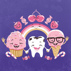 candy-denty (akrapf) Tags: cake illustration tooth candy teeth sugar icecream sweets vector akrapf