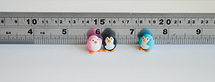 We are so tiny! ({JooJoo}) Tags: pink cute art penguin miniature crafts small polymerclay clay tiny iceberg etsy southpole blueblack joojoo afsanehtajvidi