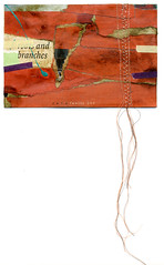Roots and Branches Revisted (Leah Virsik) Tags: watercolor paper mixedmedia fabric stitching collagefabric leahvirsik