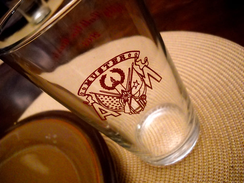 TAMU Muster glasses for Thanksgiving