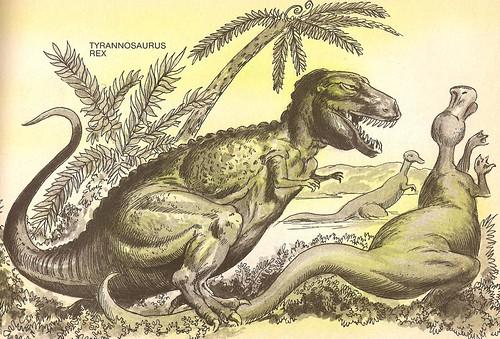 T. rex snares a Duckbill