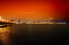 Red Planet (Yavuz Alper) Tags: longexposure november red panorama chicago museum night adler wide fisheye planetarium 2009 83sec