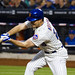 Daniel Murphy holds his swing