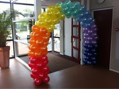 Ballonboog 6m Regenboog Musical Minoes Dorpshuis Hekelingen