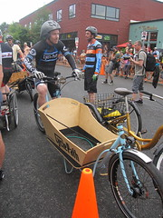 Cirque du Cycling_26 (METROFIETS) Tags: green beer bicycle oregon garden portland construction paint nw box handmade steel weld coat transport craft cargo torch frame pdx custom load cirque woodstove builder haul carfree hpm suppenkuche stumptown paragon stp chrisking shimano custombike cargobike handbuilt beerbike workbike bakfiets cycletruck rosecity crafted 4130 bikeportland 2011 braze longjohn paradiselodge seattlebikeexpo nahbs movebybike kcg phillipross bikefun obca ohbs jamienichols boxbike handmadebike oregonhandmadebikeshow nntma hopworks metrofiets cirqueducycling oregonmanifest matthewcaracoglia palletbike oregonframebuilder seattlebikeshow bikefarmer trailheadcoffee cargbikerace