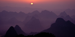 """From the Mist"" ~Guilin, China ~ Asia ~ Sunrise ~ Karsts ~ Landscape ~ Photo (Dan Ballard Photography) Tags: china guilinxingpingrivermountainsportfoliopicstravelsunrisestunningphotographygalleryoutdoorfavoritedanballardphotographybestbeautiful"