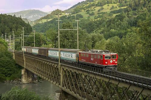 Rhb Ge 6/6 706 Reichenau 24/08/2012