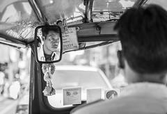 number 34435 (LIL Scarab) Tags: thailand bangkok blackwhite bw nb travel picoftheday traveler canon streetphotography street tuktuk transport motorcycle moto eos 5dmarkiv back portrait eflens ef2470mmf28lusmii licence number lightroomcc bokeh