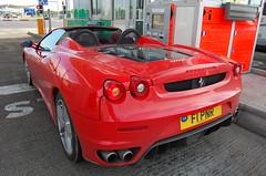 Ferrari F430 Spider (D's Carspotting) Tags: ferrari f430 spider france coquelles calais red 20100613 f1pnr le mans 2010 lm10 lm2010