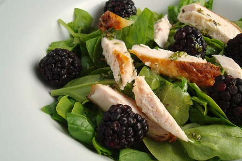 Chicken and Blackberry Salad