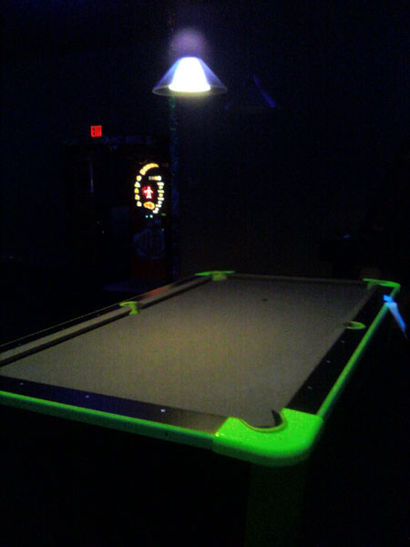 Glowing Pool Table (Click to enlarge)