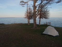 Camping on Keweenaw Peninsula in Michigan