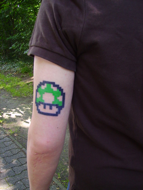 super mario tattoo. Digital camera