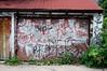 Graffiti Wall # 189 - 3 - July 12, 2009 (collations) Tags: toronto ontario architecture graffiti documentary tags vernacular tagging laneways alleys lanes garages alleyways builtenvironment vernaculararchitecture urbanfabric graffitiwalls