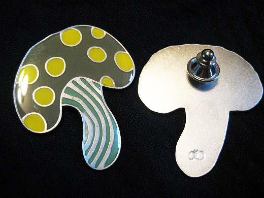 Mushroom pins from mina-perhonen