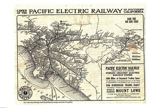 Rute Trem/Streetcar di Amerika Serikat pada tahun 1920an