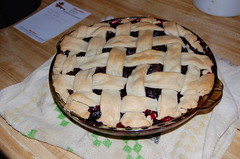 Finished blueberry pie