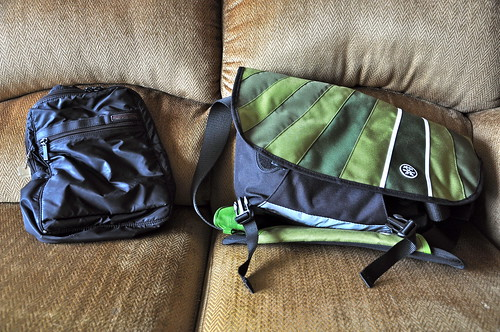 Hedgren bag and Crumpler Barney Rustle Blanket bag