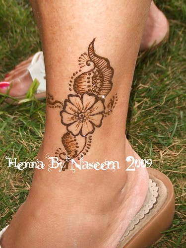 Flower on Ankle