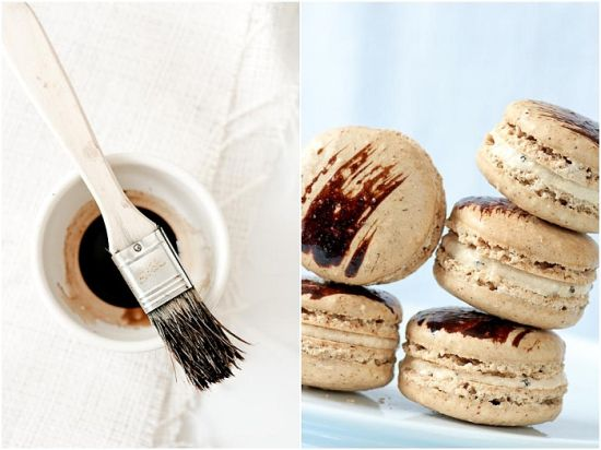 Coffee Chicory Macarons Recipe — Dishmaps