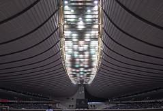 YOYOGI NATIONAL GYMNASIUM: Kenzo Tange, Shibuya-ku, Tokyo,  Oct. 1964 (wakiiii) Tags: japan architecture nikkor 建築 f4 1224 s5 s5pro 國立代代木競技場 nikkor1224mmf4gifed nationalesporthalleyoyogi สนามกีฬาแห่งชาติโยะโยะกิ استادیومملییویوگی 국립요요기경기장